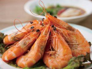 白灼蝦 海老の湯引き ¥699(税込734) 富貴蝦球
