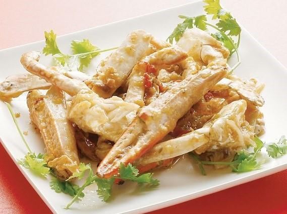 XO醤炒蟹 渡り蟹とXOソースの炒め ¥599(税込629)