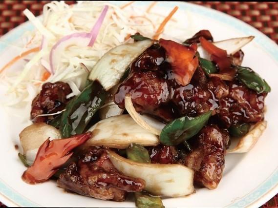烏醋鶏 鶏の黒酢仕立て ¥399(税込419)