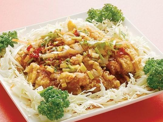 油淋鶏 若鶏のから揚げ ネギ香味たれ ¥399(税込419)