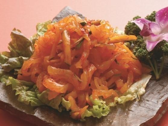 涼拌海哲 こりこりくらげの冷菜 199(税込209)