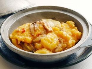 なすと白身魚の 炒め鍋 (XOソース入り) 1、575円